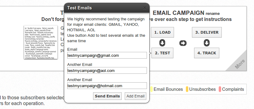 Test Campaigns